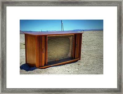 Idiot Box Framed Print by Dan Stone