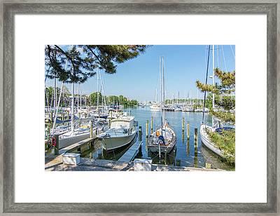 Idle Boats Framed Print