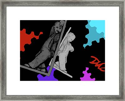 Idle Bookends Framed Print
