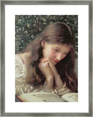 Idle Tears Framed Print by Edward Robert Hughes