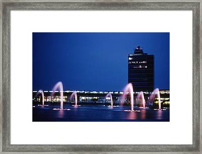 Framed Print featuring the photograph Idlewild Fountain And Tower by John Schneider