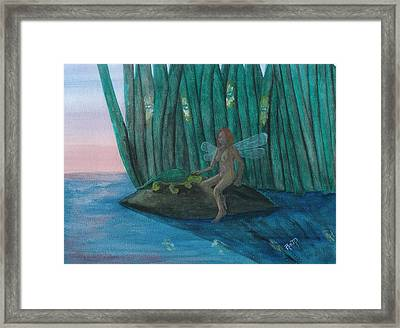 Idly Watching Fireflies...no. Two Framed Print by Robert Meszaros