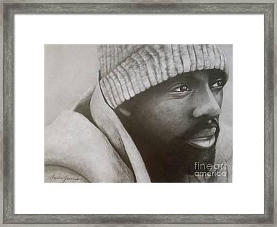 Idris Elba Framed Print by Lorelle Gromus
