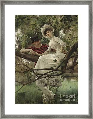 Idyll, 1925  Framed Print by Carl Larsson