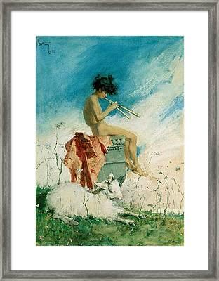 Idyll Framed Print by Mariano Fortuny y Marsal