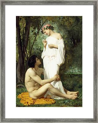 Idyll Framed Print by William Adolphe Bouguereau