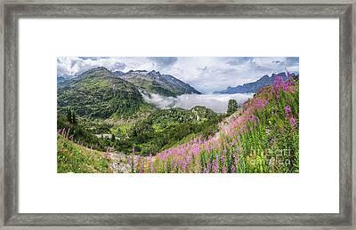 Idyllic Alpine Panorama Framed Print by JR Photography