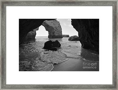 Idyllic Cave In Monochrome Framed Print