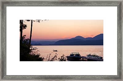 Idyllic Evening Framed Print