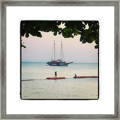 Framed Print featuring the photograph Idyllic Setting To Idle The Time Away by Mr Photojimsf