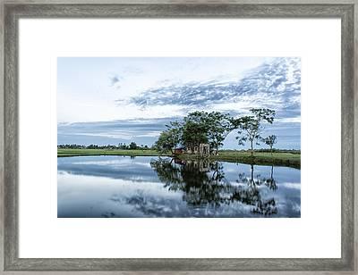 Idyllic Summer House Framed Print by Minh Nguyen Van