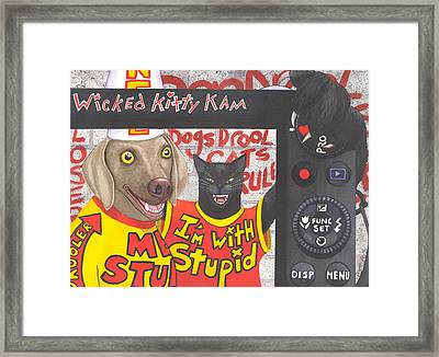 If Dogs Could Read Framed Print by Catherine G McElroy