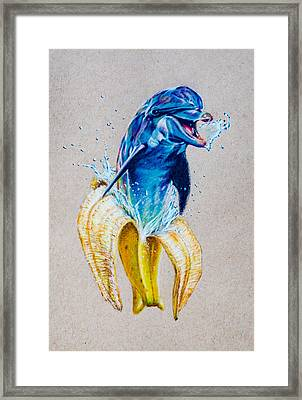 If Dolphins Came From Banana Peels Framed Print