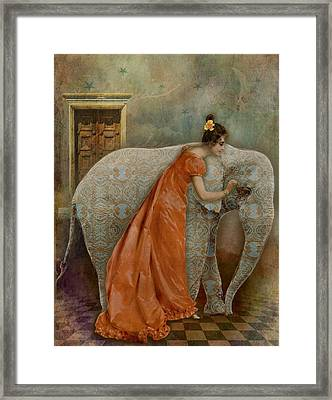 If Elephants Were Painted Framed Print by Lisa Noneman
