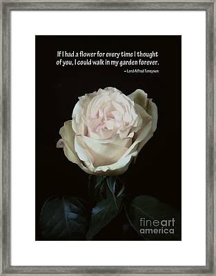 If I Had A Flower Framed Print