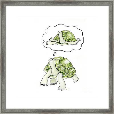 If Only I Could Fly Framed Print by Fran Henig