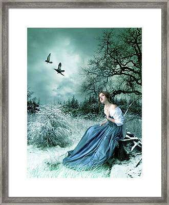 If Only I Had Wings Framed Print by Julie L Hoddinott