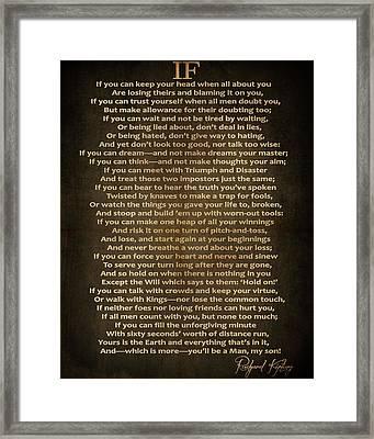 If Poem Vintage Canvas Framed Print by Dan Sproul