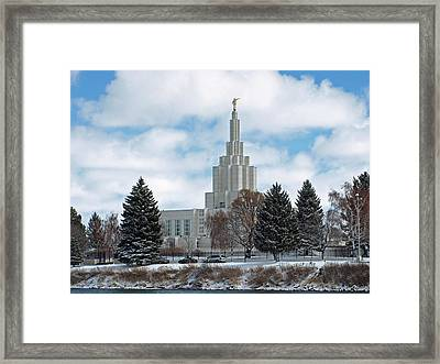 If Temple After Snow Framed Print