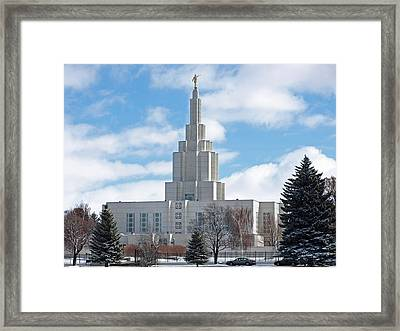 If Temple Against The Sky Framed Print