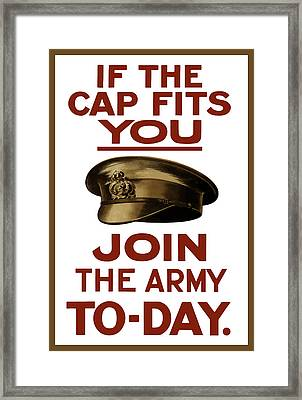 If The Cap Fits You Join The Army Framed Print by War Is Hell Store