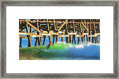 If The Dude Surfed 2 Surfing Watercolor Framed Print