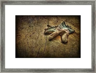 If The Glove Doesn't Fit........ Framed Print by Evelina Kremsdorf