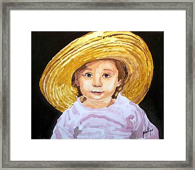 Framed Print featuring the painting If The Hat Fits... by Jim Phillips