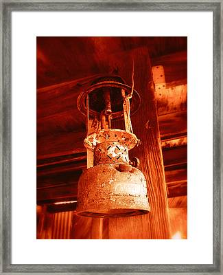 Framed Print featuring the photograph If The Lantern Could Speak by Glenn McCarthy