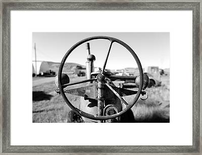 If The Wheel Could Talk Framed Print by Todd Klassy