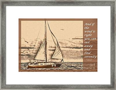 If The Wind Is Right Framed Print