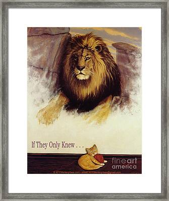 If They Only Knew Framed Print by Rick Schwartz