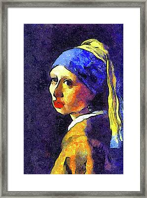 If Van Gogh Had Painted Vermeer Framed Print by Georgiana Romanovna