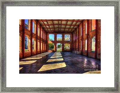 If Walls Could Talk Reedy River Meeting Venue Greensville South Carolina Art Framed Print