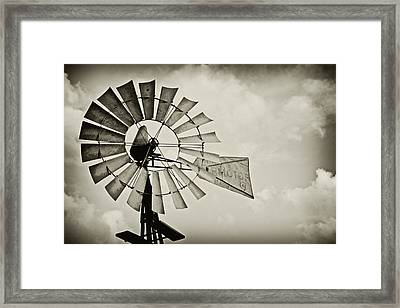 If Windmills Could Talk Framed Print by Tony Grider