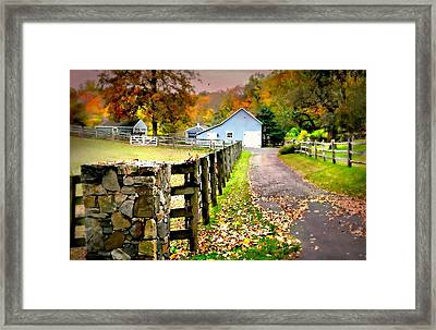 If Your Heart Isn't In It Framed Print by Diana Angstadt