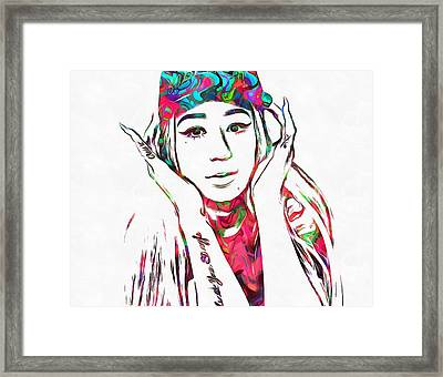Iggy Azalea  Framed Print by Dan Sproul