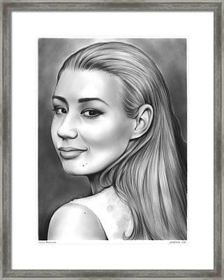Iggy Azalea Framed Print by Greg Joens