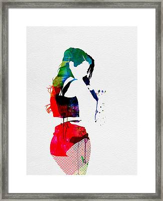 Iggy Watercolor Framed Print by Naxart Studio