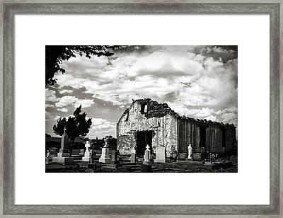 Iglesia Cementerio Framed Print