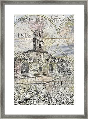 Iglesia De Santa Ana Passport Framed Print