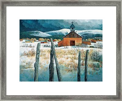 Iglesia Del Llano Framed Print by Donna Clair