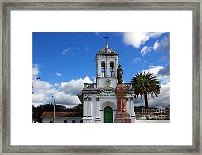 Iglesia Virgen De Bronce, Parroquia De Nuestra Senora Del Carmen Framed Print by Al Bourassa