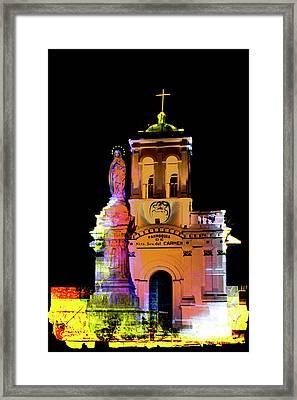 Iglesia Virgen De Bronce, Parroquia De Nuestra Senora Del Carmen II Framed Print by Al Bourassa
