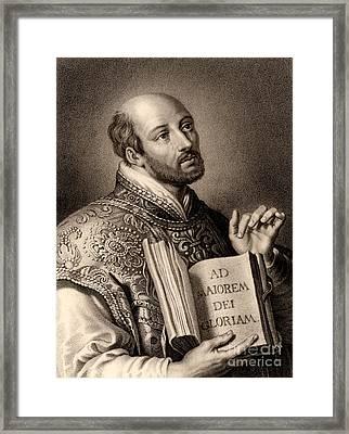 Ignatius Loyola Framed Print by English School