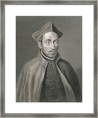 Ignatius Of Loyola Framed Print by W Holl