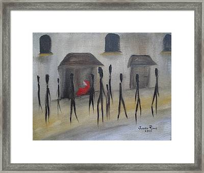 Ignoring The Homeless Framed Print