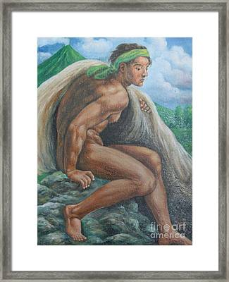 Ignudo In Bicol Framed Print by Manuel Cadag