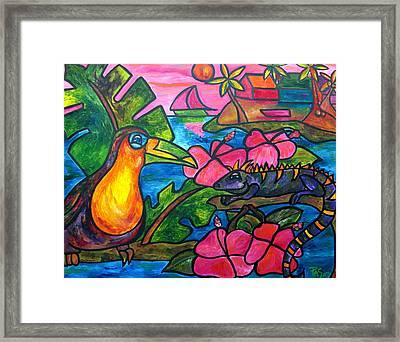 Iguana Eco Tour Framed Print by Patti Schermerhorn