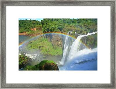 Iguazu Rainbow Framed Print